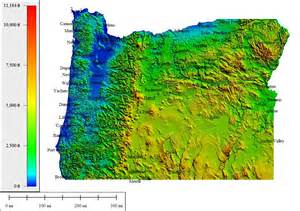 topo map of oregon topocreator create and print your own color shaded