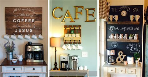 Interior Designs For Kitchen And Living Room - 23 best coffee station ideas and designs for 2017