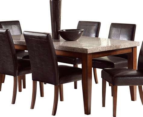 clayton dining table steve silver clayton marble top dining table in light