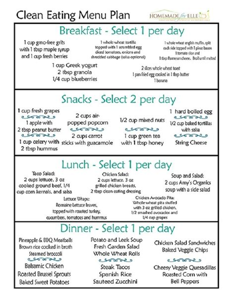 printable meal plan to lose weight simple clean eating meal plan 12 trending clean eating