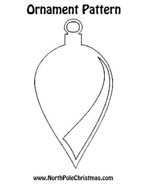 christmas ornament pattern print for crafts