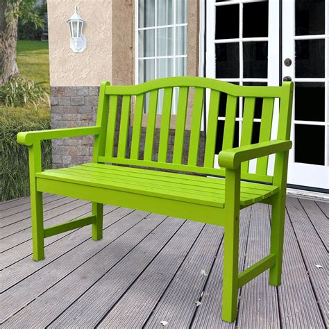 lime green bench shine co outdoor patio belfort garden bench in lime