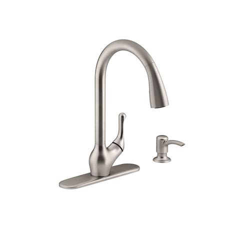kohler pull out faucets kitchen faucets the home depot