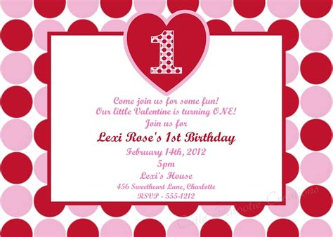 valentines invitation valentines day 1st birthday invitations
