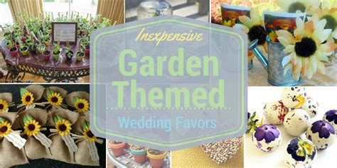 inexpensive garden themed wedding favors that your guests will