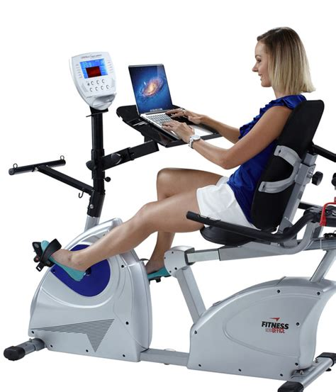 recumbent exercise bike desk cardiotech