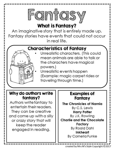 fantasy film genre elements top 25 ideas about genre anchor charts on pinterest