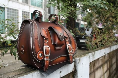 Handmade Saddlebags - made custom saddlebag leather brown saddle bag