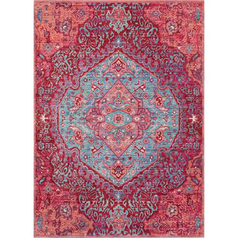 Bright Area Rug Surya Germili Bright Pink 9 Ft X 11 Ft 10 In Indoor Area Rug Ger2325 91110 The Home Depot