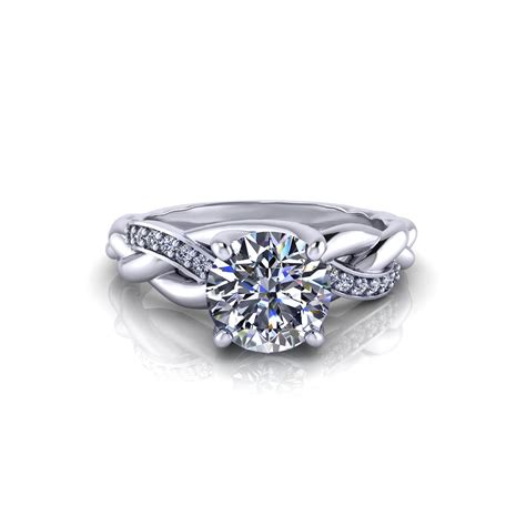 braided engagement ring jewelry designs