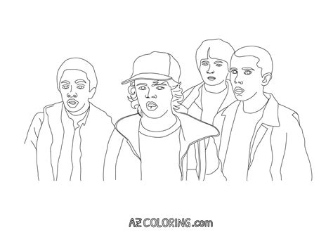 Stranger Things Coloring Pages Coloring Home