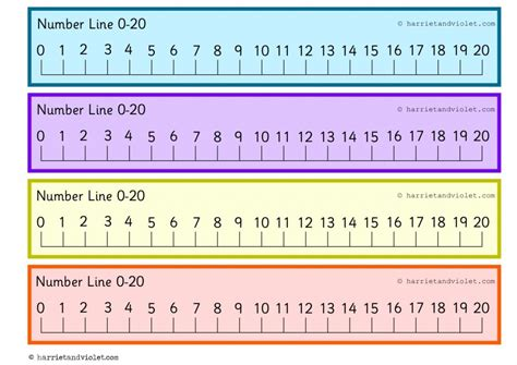 printable number line to 20 9 best images of free printable number line 1 20