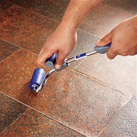 Vinyl Floor Tile Roller by Install The Patch How To Patch A Vinyl Floor This
