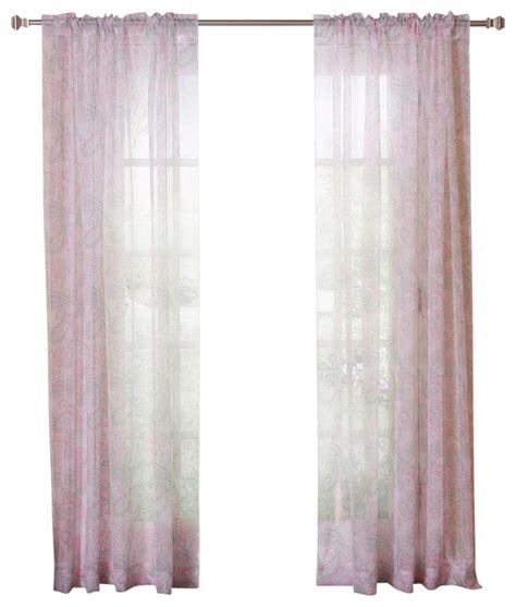 sheer paisley curtains beautiful sheer 84 quot multi paisley curtain pair