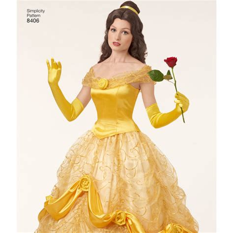 pattern for belle s yellow dress simplicity pattern ea840601 misses disney classic belle