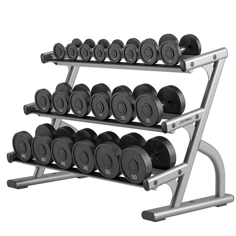 Request Barbell Set optima series three tier dumbbell rack fitness