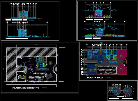 luxury hotel  spa  dwg design full project