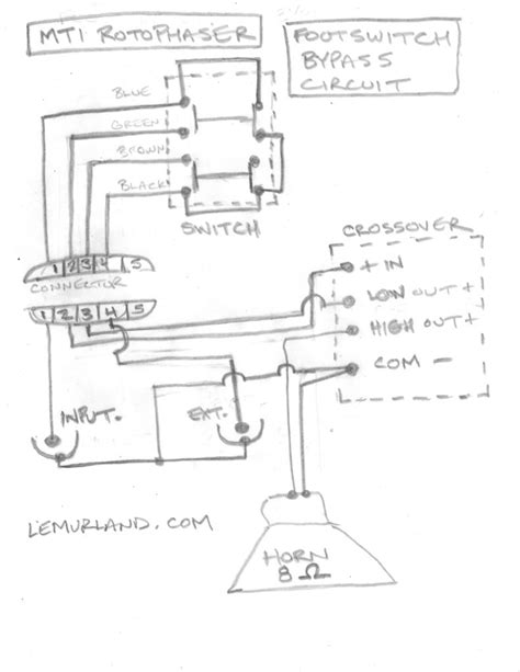 MTI Rotophaser with Footswitch Schematics and Images
