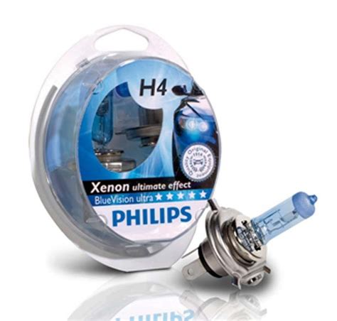 Philips Bluevision T10 W5w White Light Blue Vision Lu Sein Senja pack 2 oules philips h4 white vision 55w yakaequiper