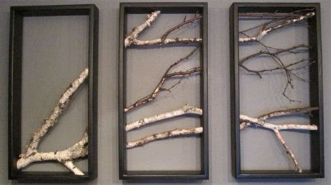 Birch Wall Hanging Black And White Open Art Rustic Art Modern Rustic Wall Decor