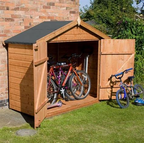 Secure Bike Sheds by 7 X 3 Waltons Tongue And Groove Apex Wooden Bike Shed