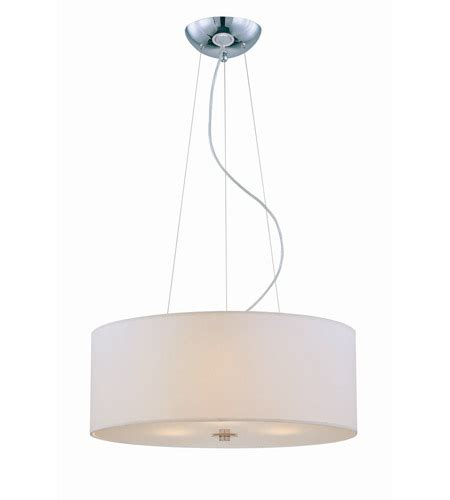 Paper Pendant Ls Lite Source Olwen Ii 3 Light Pendant In Chrome With White Paper Shade Ls 19149