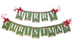 christmas banner candy cane reds  creams garland decoration christmas banners