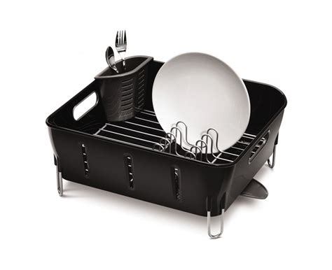 simplehuman compact dishrack stainless steel tidy kitchen