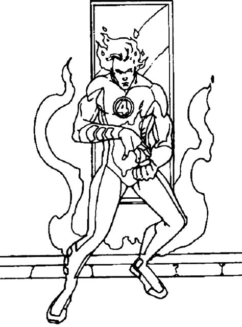 human torch drawings coloring pages coloring pages