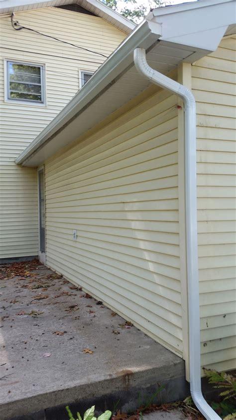 gutter above patio capital region gutters