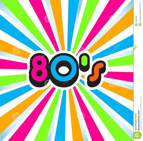 80 s colors 80s pop background stock vector illustration of image