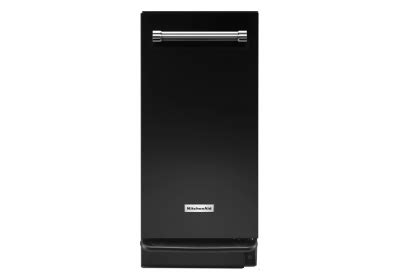 kitchenaid 15 in built in trash compactor in black kitchenaid 15 quot black trash compactor ktts505ebl