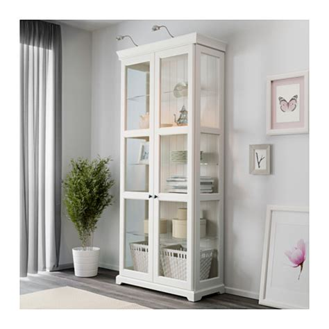 Ikea Glass Door Cabinet White Nazarm Com White Armoire With Glass Doors