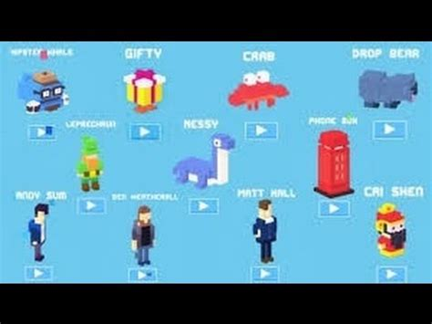 crossy road rare character crossy road rare characters youtube