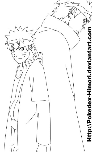 pain naruto coloring pages naruto and pain 435 lineart by icaro382 on deviantart