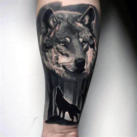 realistic wolf tattoo the 85 best wolf tattoos for improb