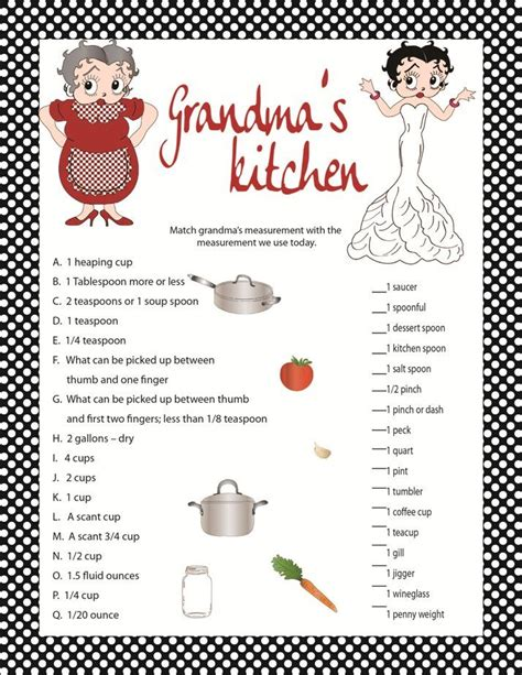 Kitchen Tea Games Bridal Shower Activities Kitchen Tea | bridal shower game quot grandma s kitchen quot kitchen shower game