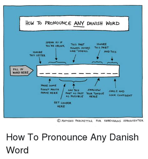 How To Pronounce Memes - how to pronounce any danish word speak as if ignore this part you re drunk always sounds this
