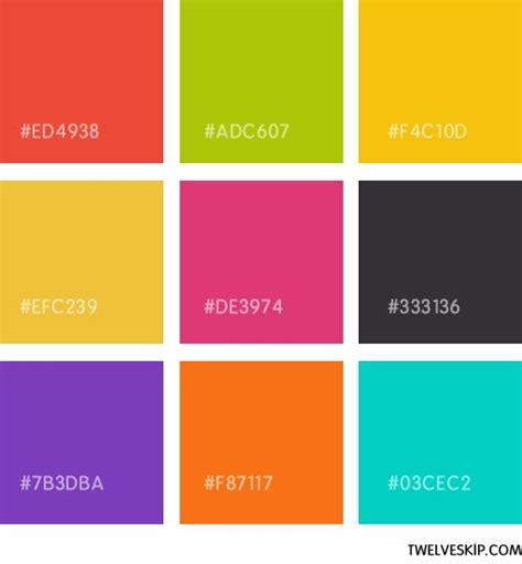 pink flat color 17 best images about web color schemes on pinterest