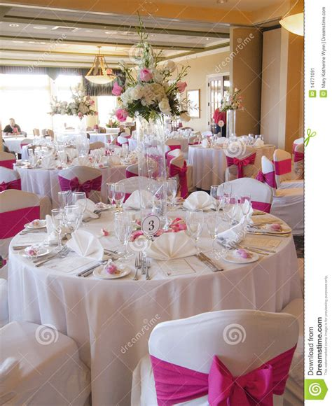 Wedding Reception Party Venue Stock Image   Image: 14771091