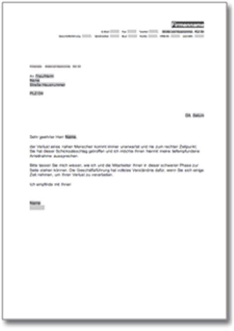 Anschreiben Adrebe Ansprechpartner Kondolenzschreiben De Musterbrief