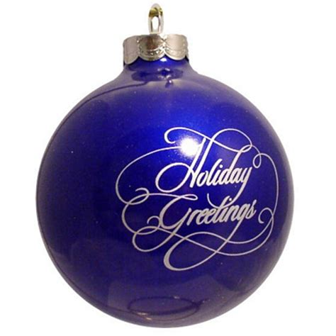 dark blue custom christmas logo ornament holiday greetings