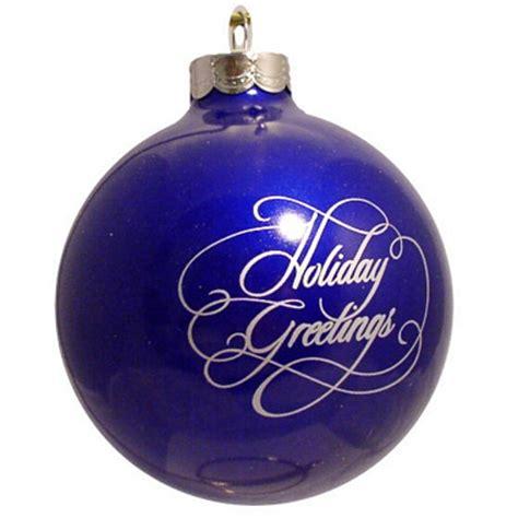 dark blue custom christmas logo ornament holiday greetings
