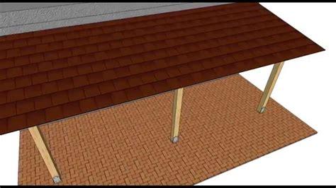 costruire una tettoia addossata tettoia addossata