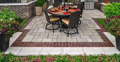 Unilock Blocks by 10 Patios That Use Paver Patterns To Make A Statement