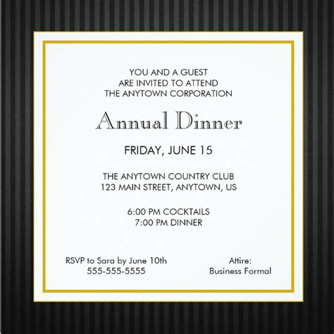 business dinner invitations psd ai word  premium templates