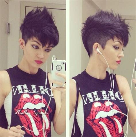 edgy short punk hairstyles   pull