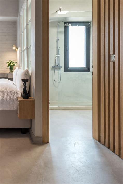 badkamer hout en betonlook slaapkamer suite met betonlook en hout slaapkamer idee 235 n