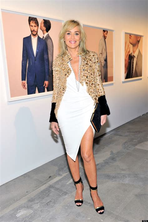 Valentine S Day Gifts For Her by Sharon Stone Does Not Age At All In Slit Dress Photos