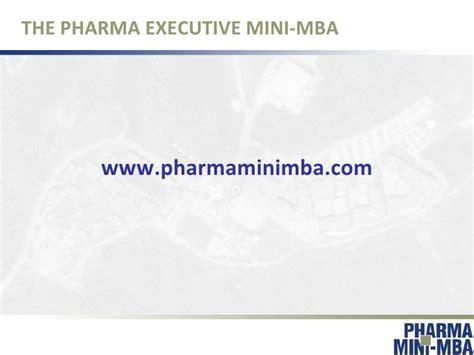 Pharma Mba Course by Pharma Executive Mini Mba